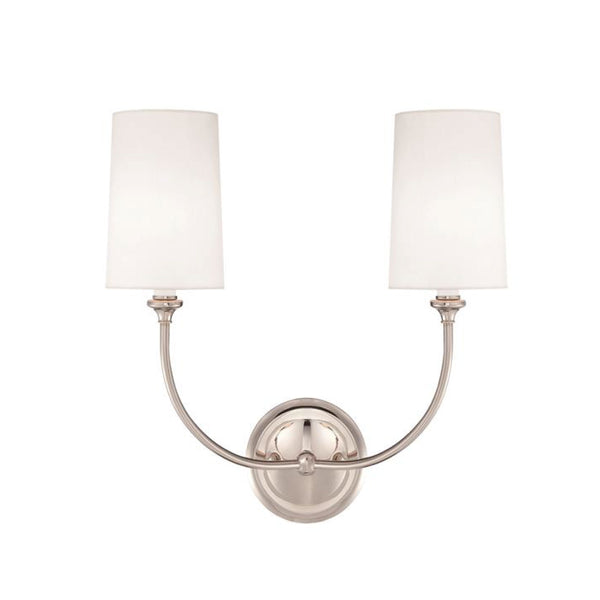 Abrams Double Sconce in Nickel