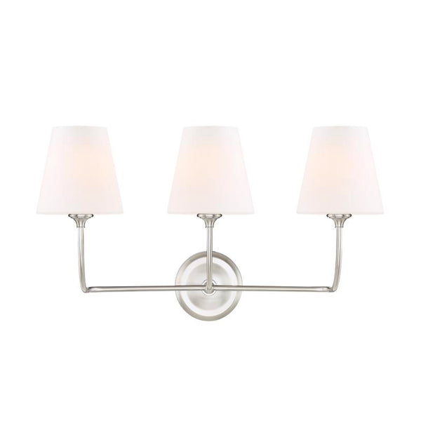Abrams Vanity Light in Brushed Nickel