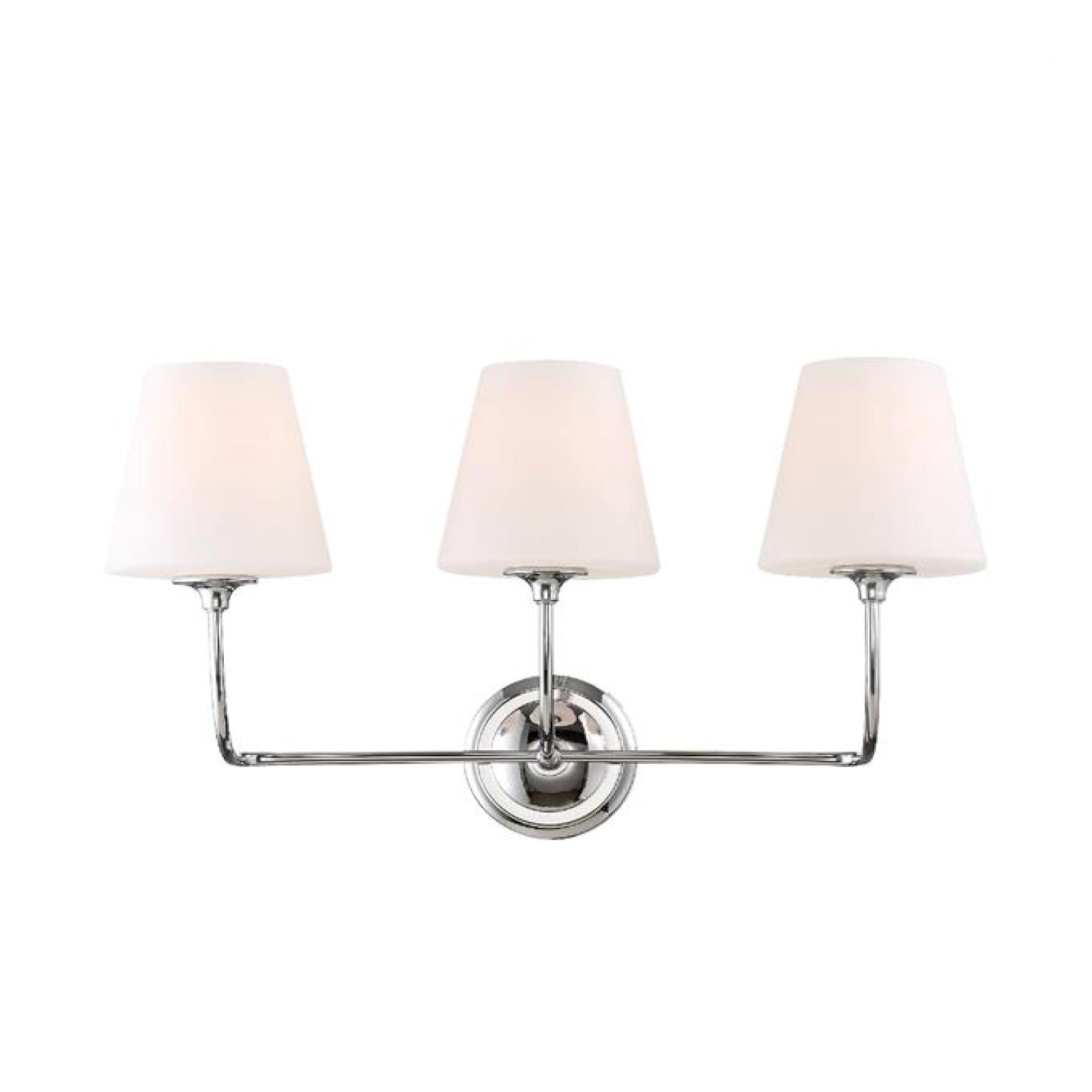 Abrams Vanity Light in Polished Chrome