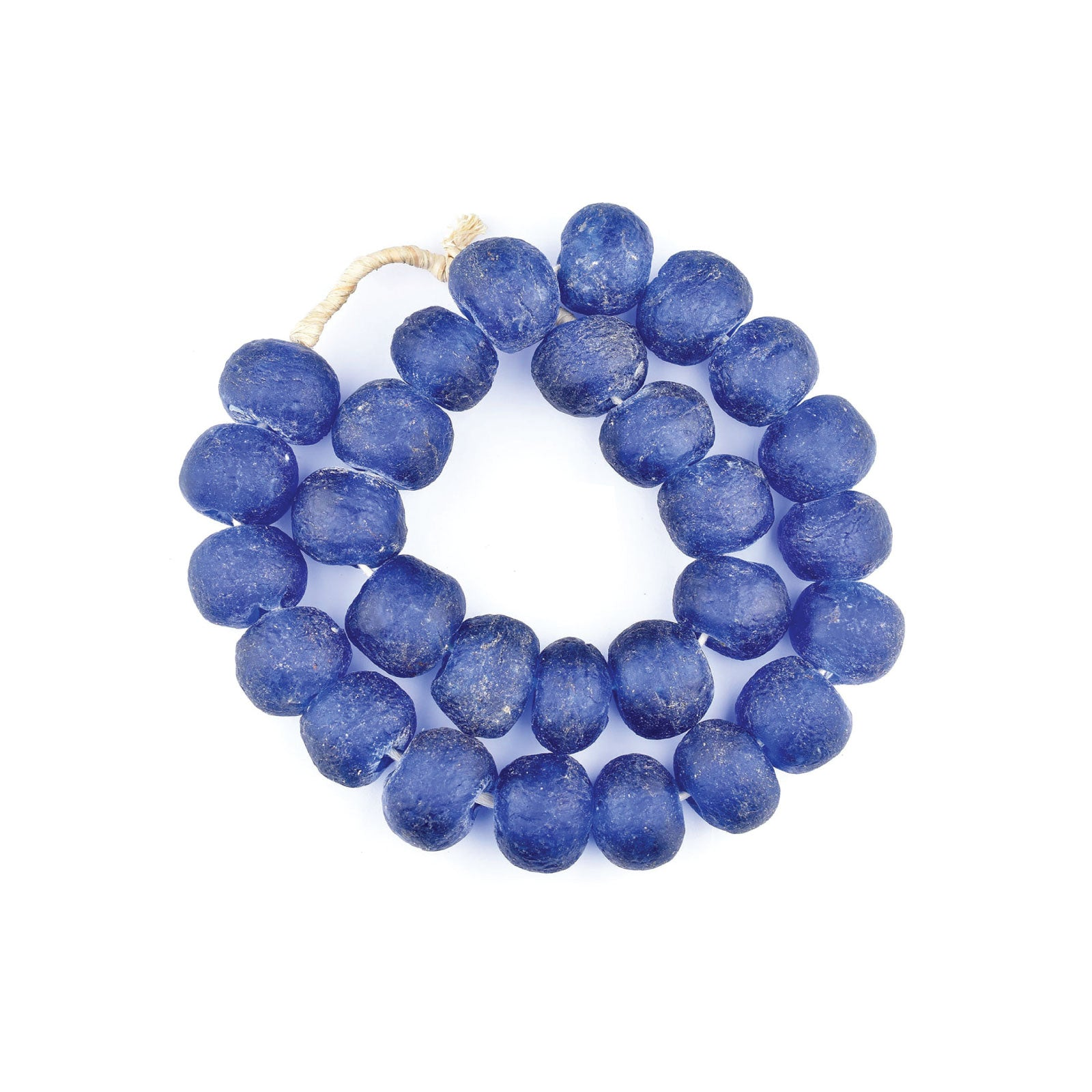 African Glass Beads in Blue