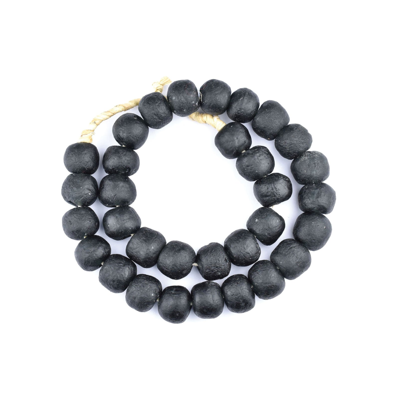 African Glass Beads in Black