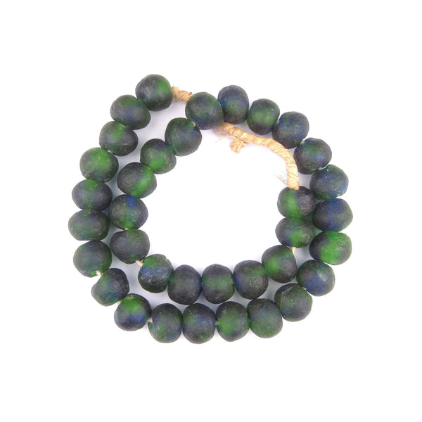 African Glass Beads in Green