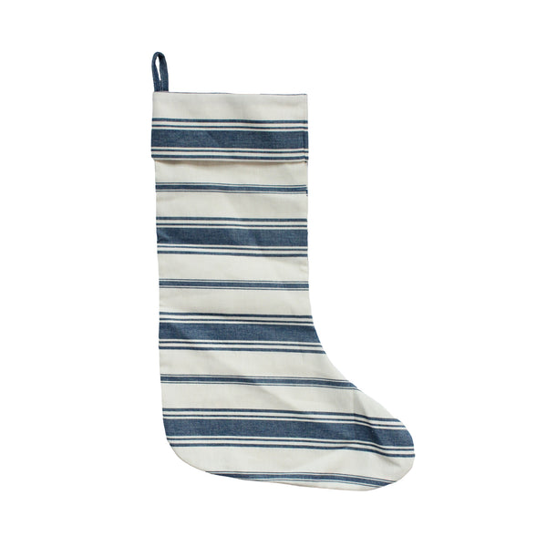 Wentworth Stripe Stocking in Navy