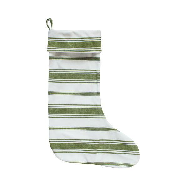 Wentworth Stripe Stocking in Olive