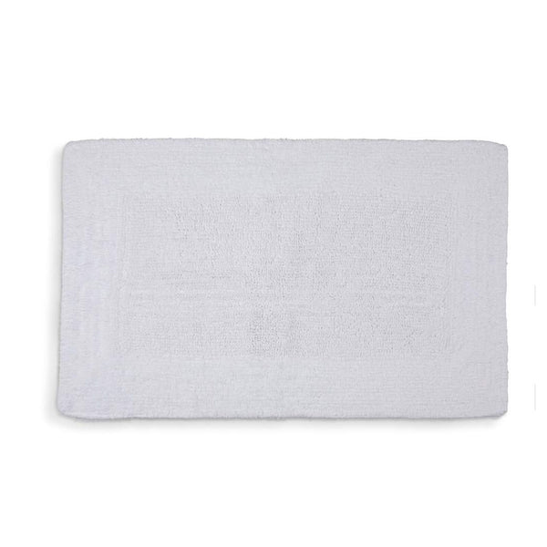 Bamboo Bath Rug in White