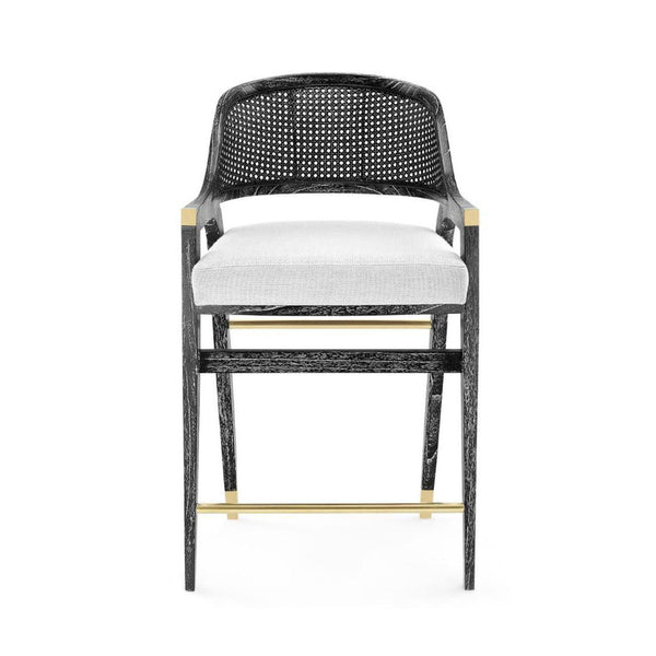 Bardot Counter Stool in Black Wash