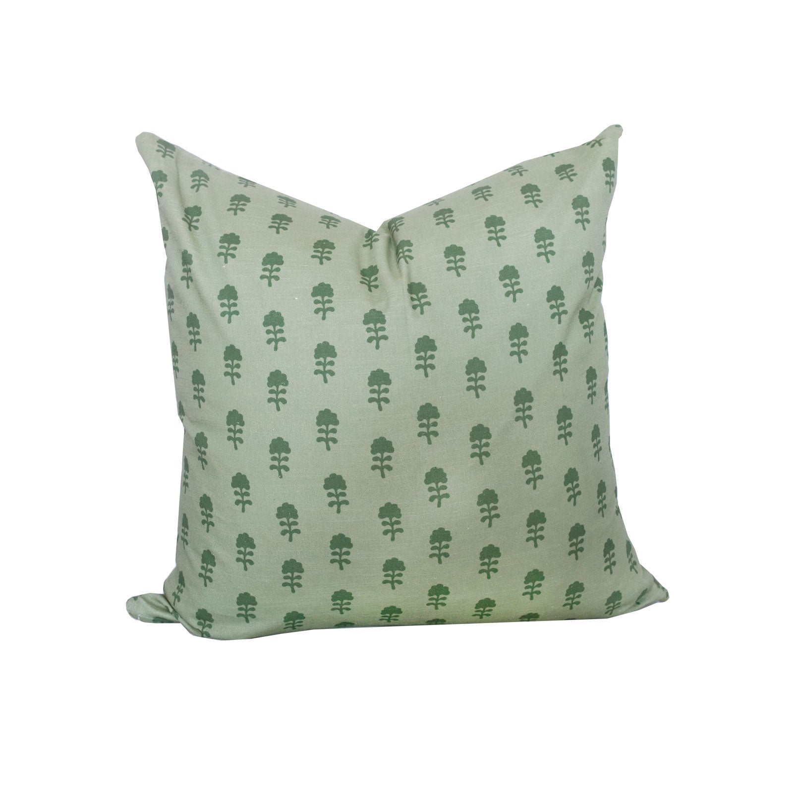 Birdie Pillow in Olive on Sage no. 1