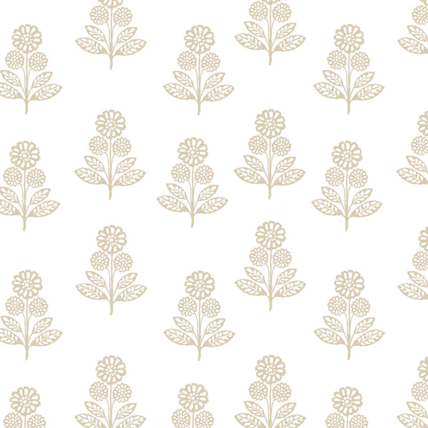 Stella Floral Fabric in Natural
