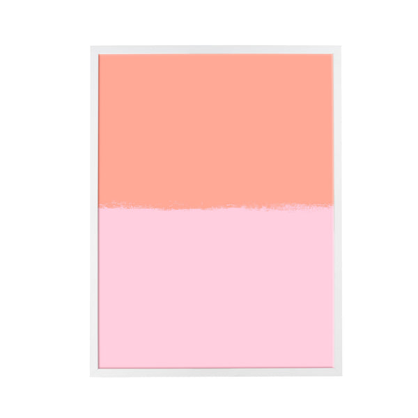 Brushstroke Colorblock Art in Coral & Pink