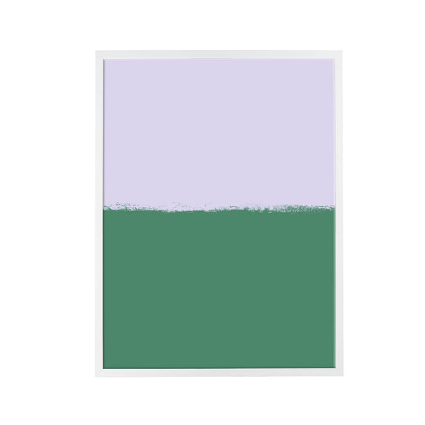 Brushstroke Colorblock Art in Lavender & Emerald