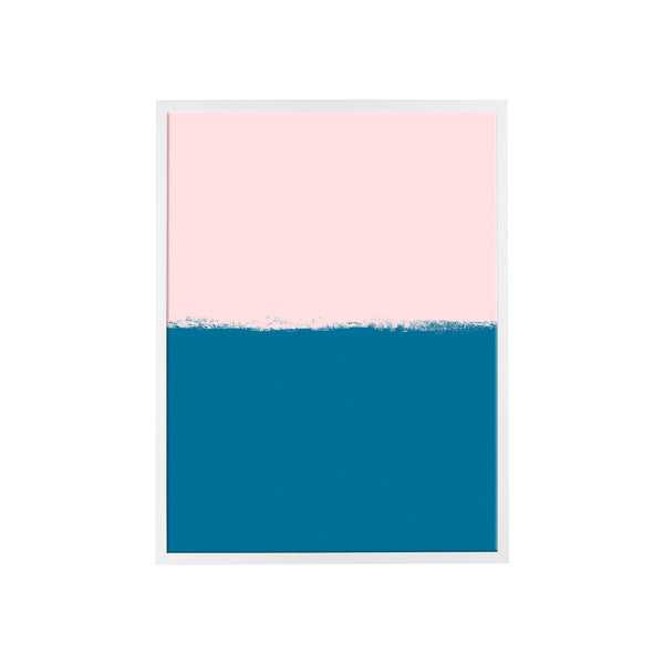 Brushstroke Colorblock Art in Soft Pink & Navy