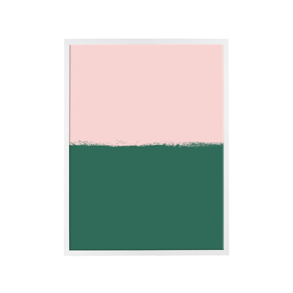 Brushstroke Colorblock Art in Soft Pink & Emerald