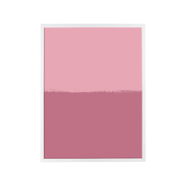 Brushstroke Colorblock Art in Lilac & Berry