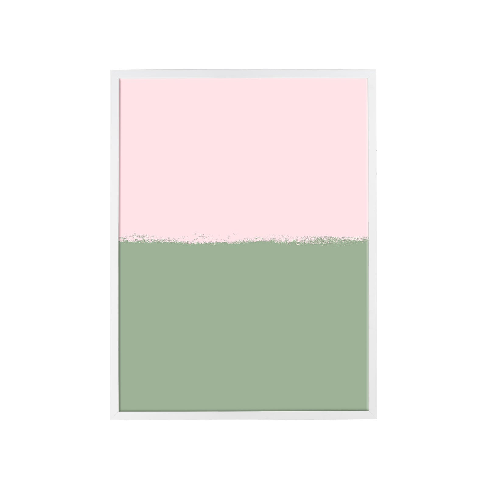 Brushstroke Colorblock Art in Soft Pink & Sage