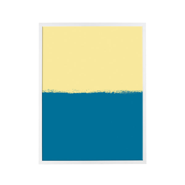 Brushstroke Colorblock Art in Honey & Navy