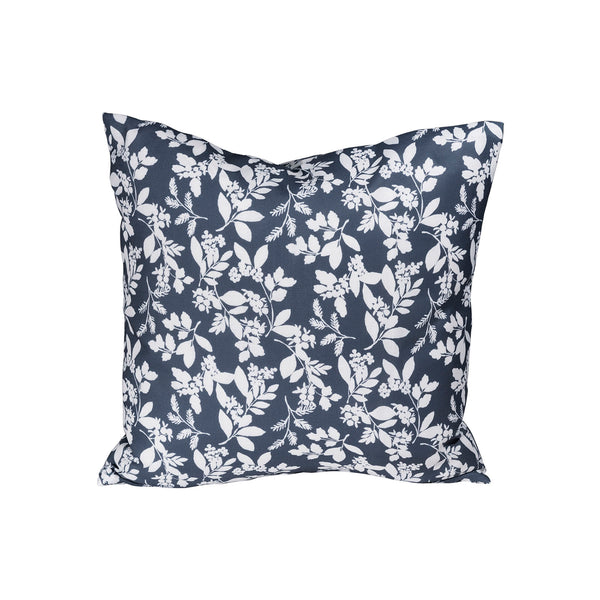 Winter Berry Pillow - Blue & White