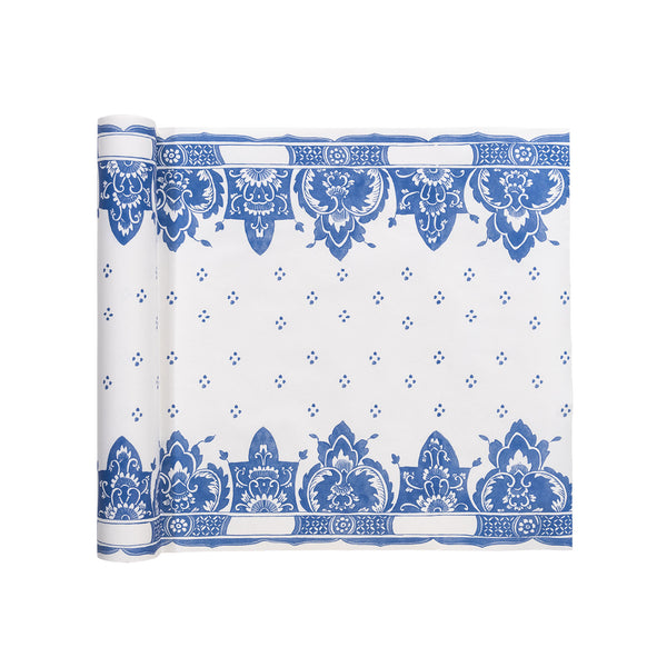 Blue Border Paper Table Runner
