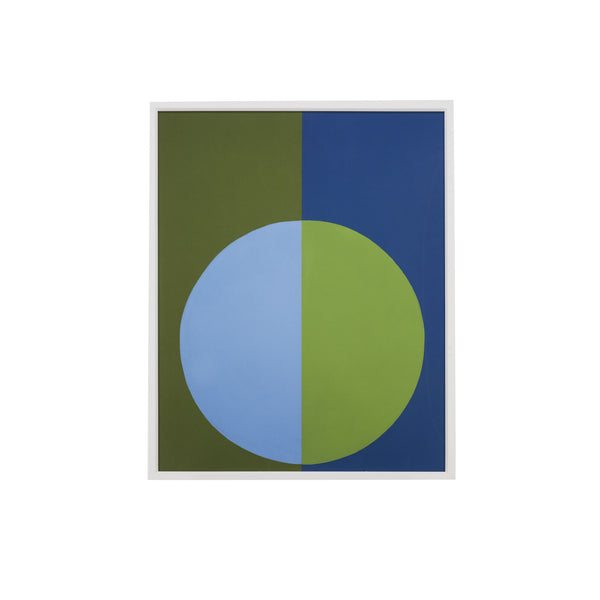 Blue and Green Colorblock Circle Art