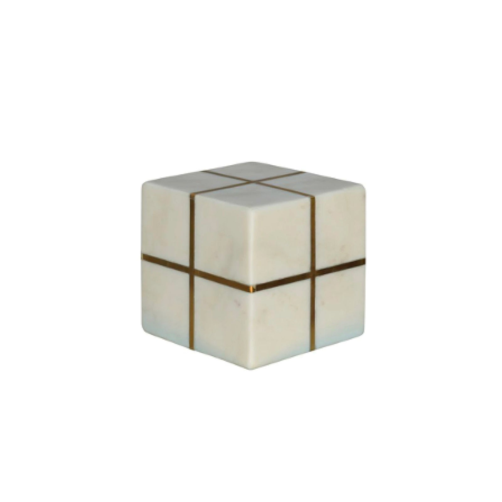 Brass and Marble Cube