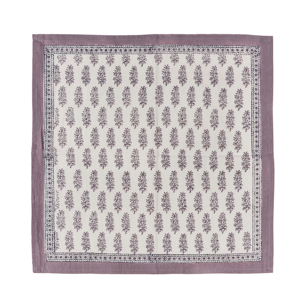 Set of Lavender Block Print Napkins