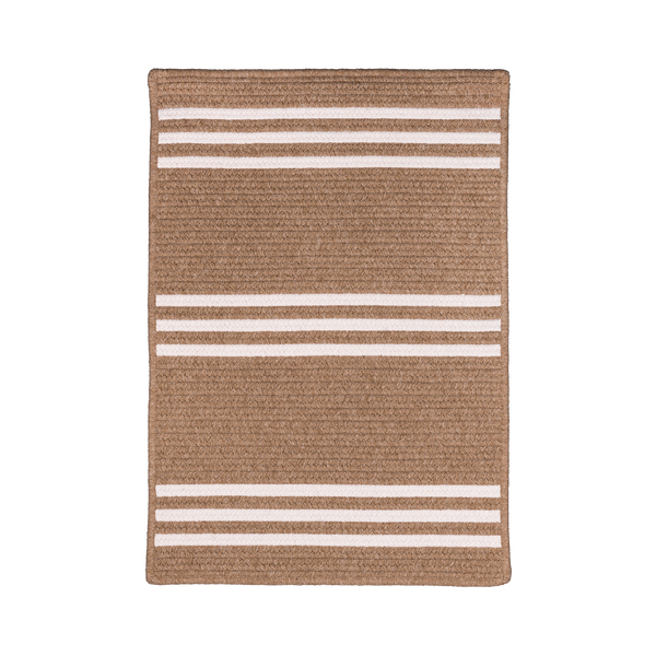 Rugby Stripe Rug in Natural and Tan