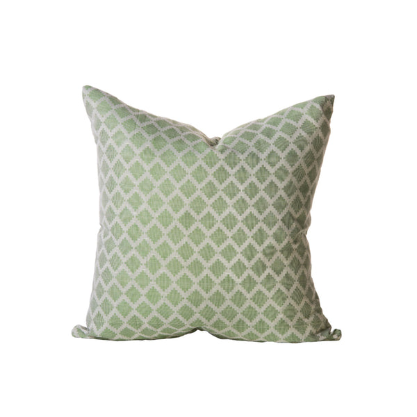Soft Green Diamond Print Pillow