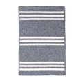 Rugby Stripe Rug in Natural and Grey