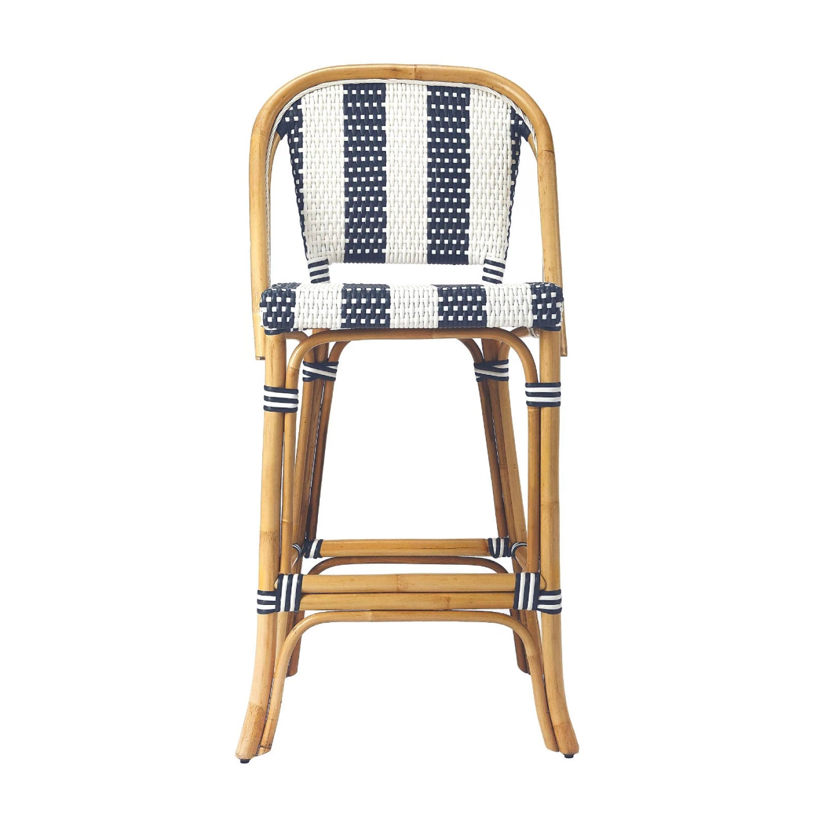 Cabana Stripe Counter Stool in Navy