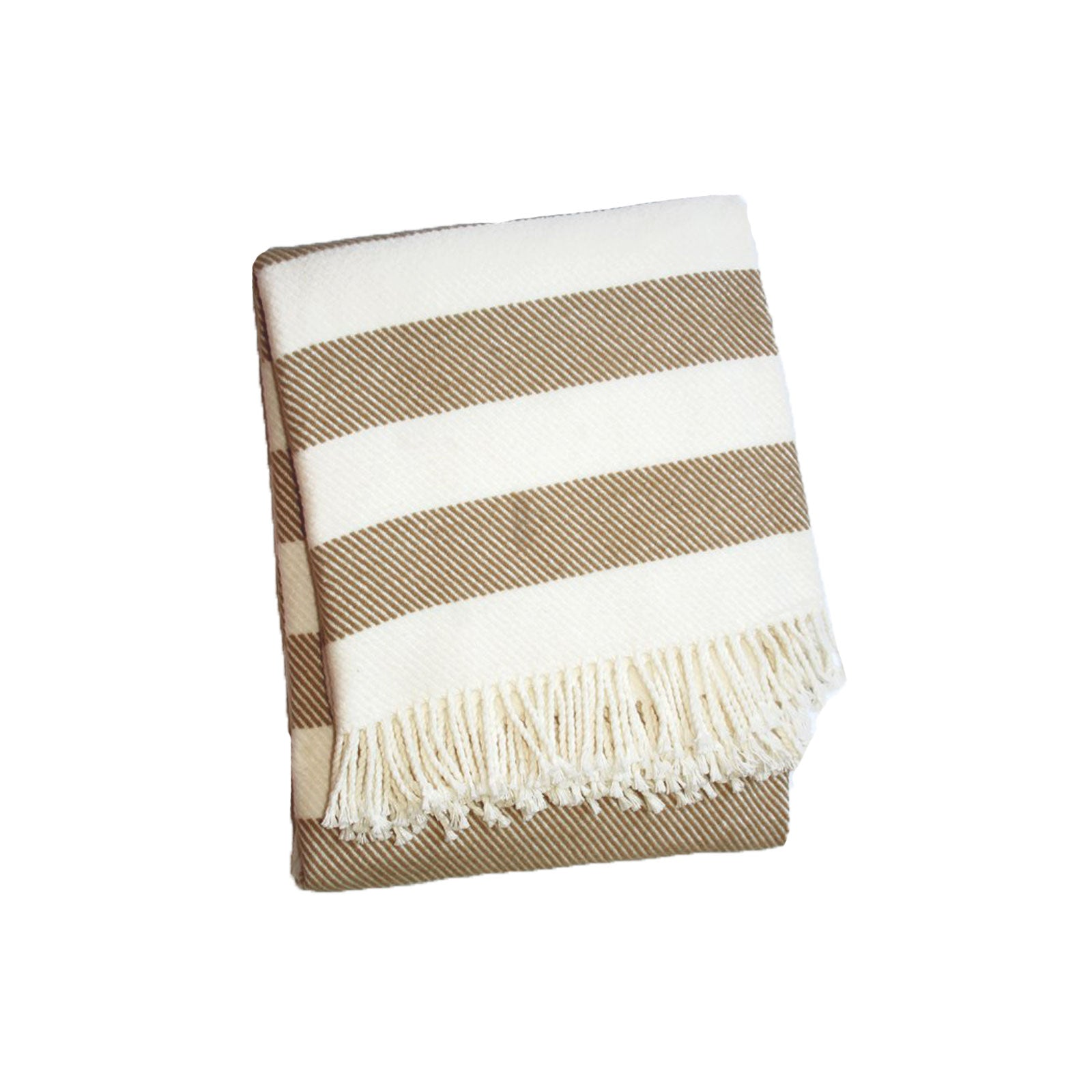 Cabana Stripe Throw in Camel