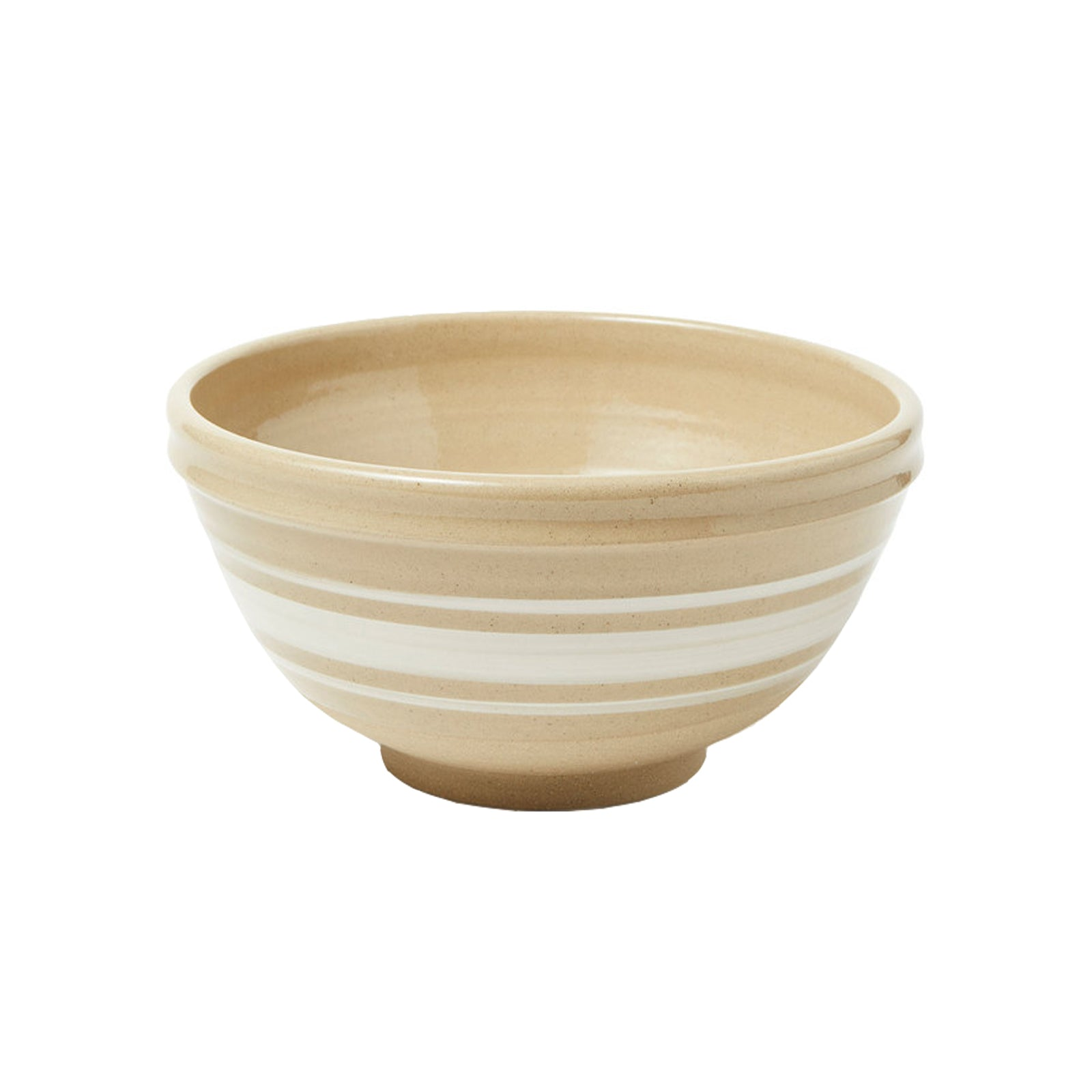 Large Camel Stripe Bowl