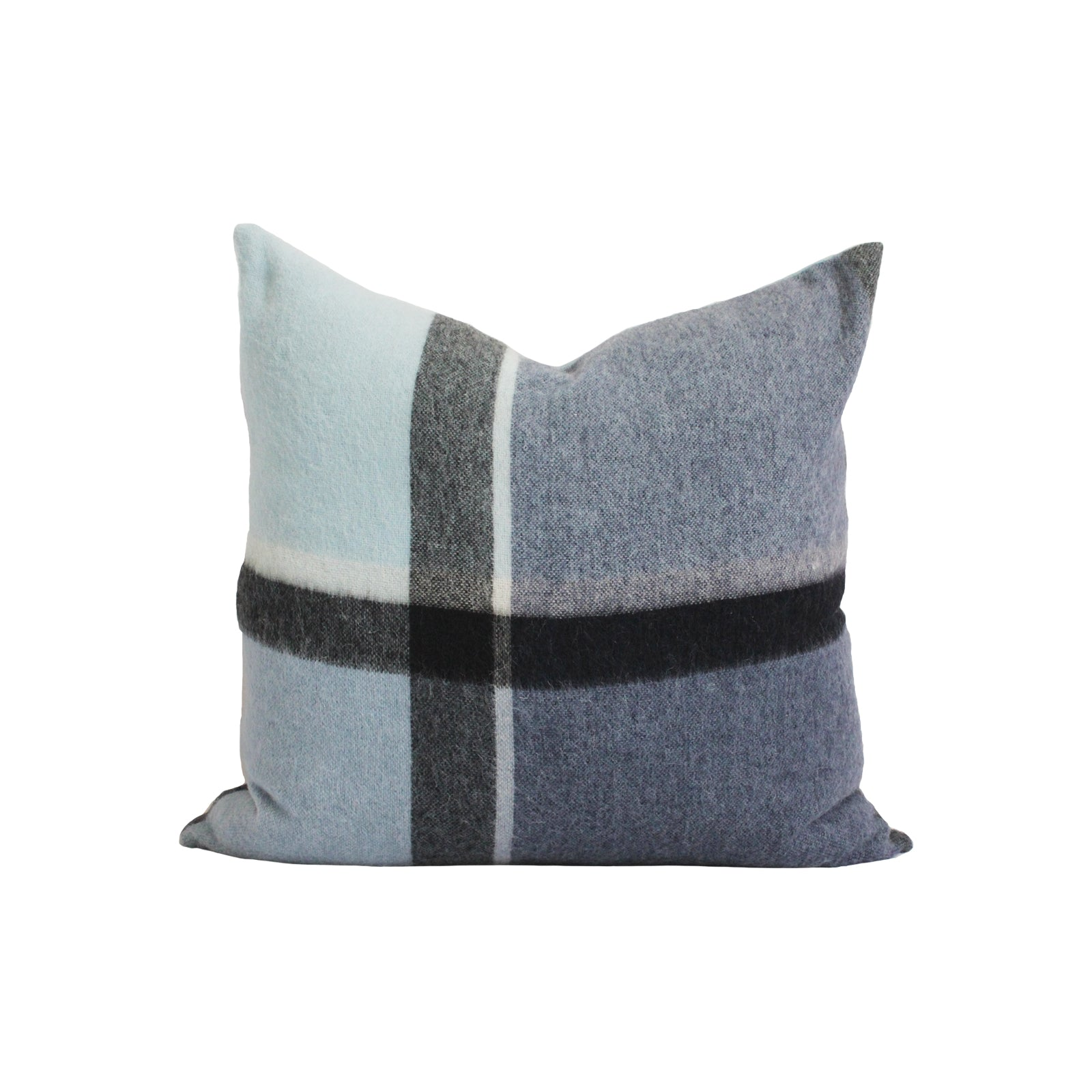 Kennedy Wool Pillow Cover in Mixed Blue