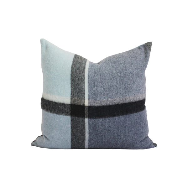 Kennedy Wool Pillow in Mixed Blue