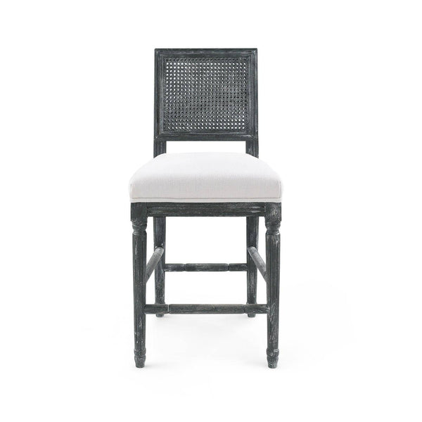 Champagne Counter Stool in Black Wash