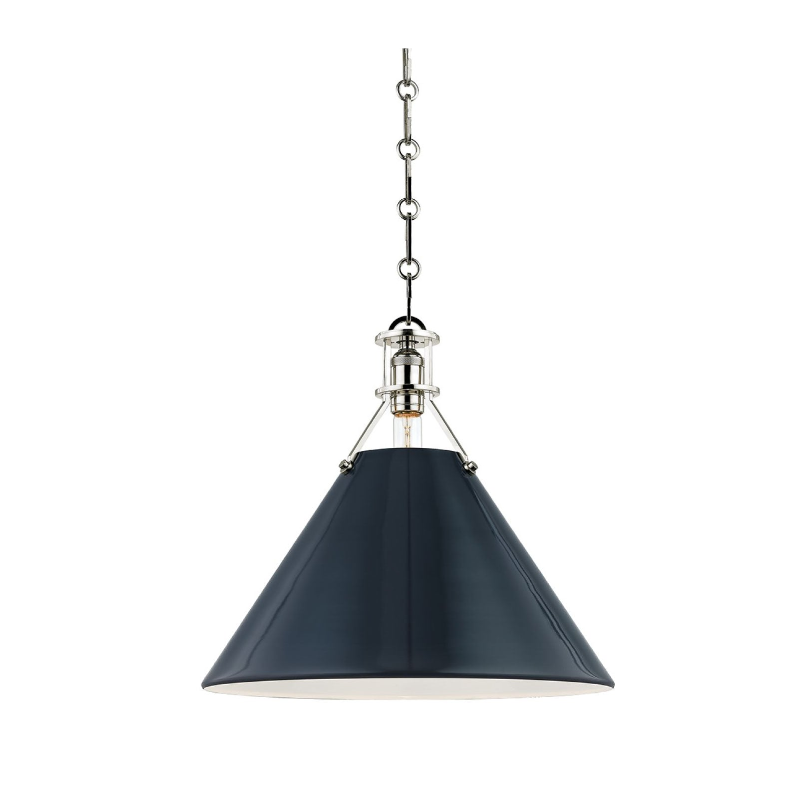 Charles Pendant in Deep Blue and Nickel