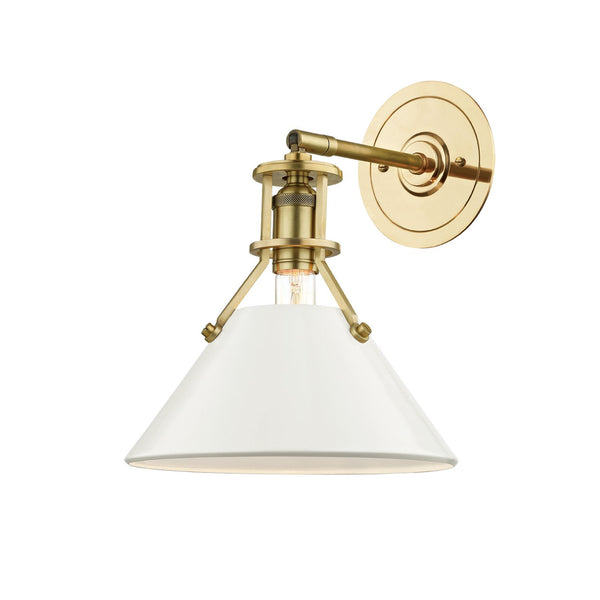 Charles Sconce in Cream and Brass