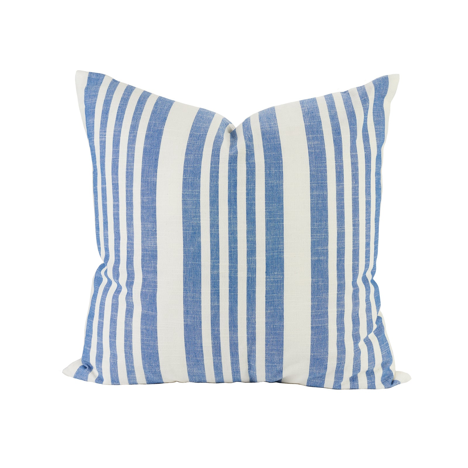 Classic Stripe Pillow in French Blue
