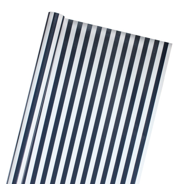 Coastal Stripe Wrapping Paper in Midnight Blue