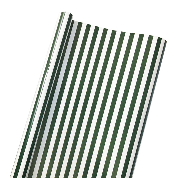 Coastal Stripe Wrapping Paper in Evergreen