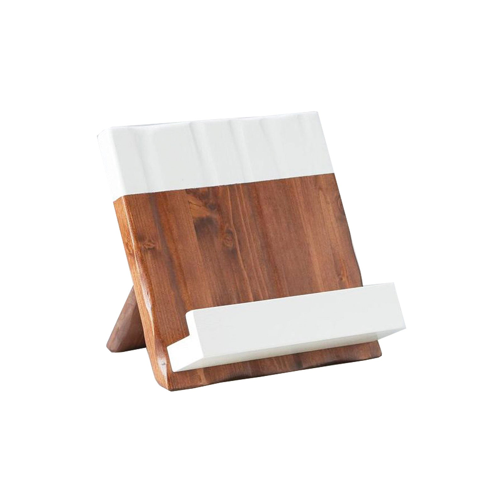 White and Natural Cookbook Stand