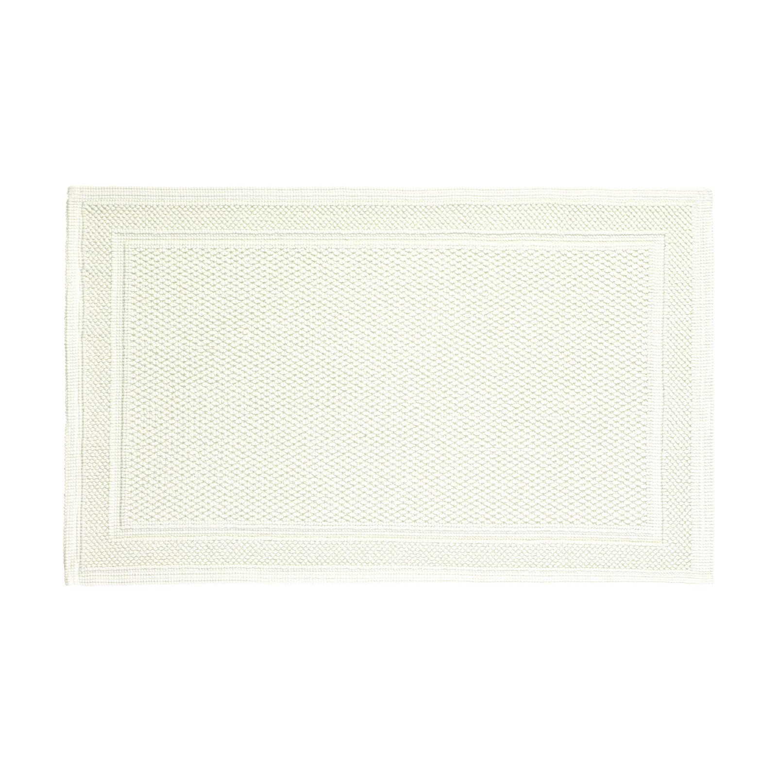 Cotton Bath Rug in Ivory