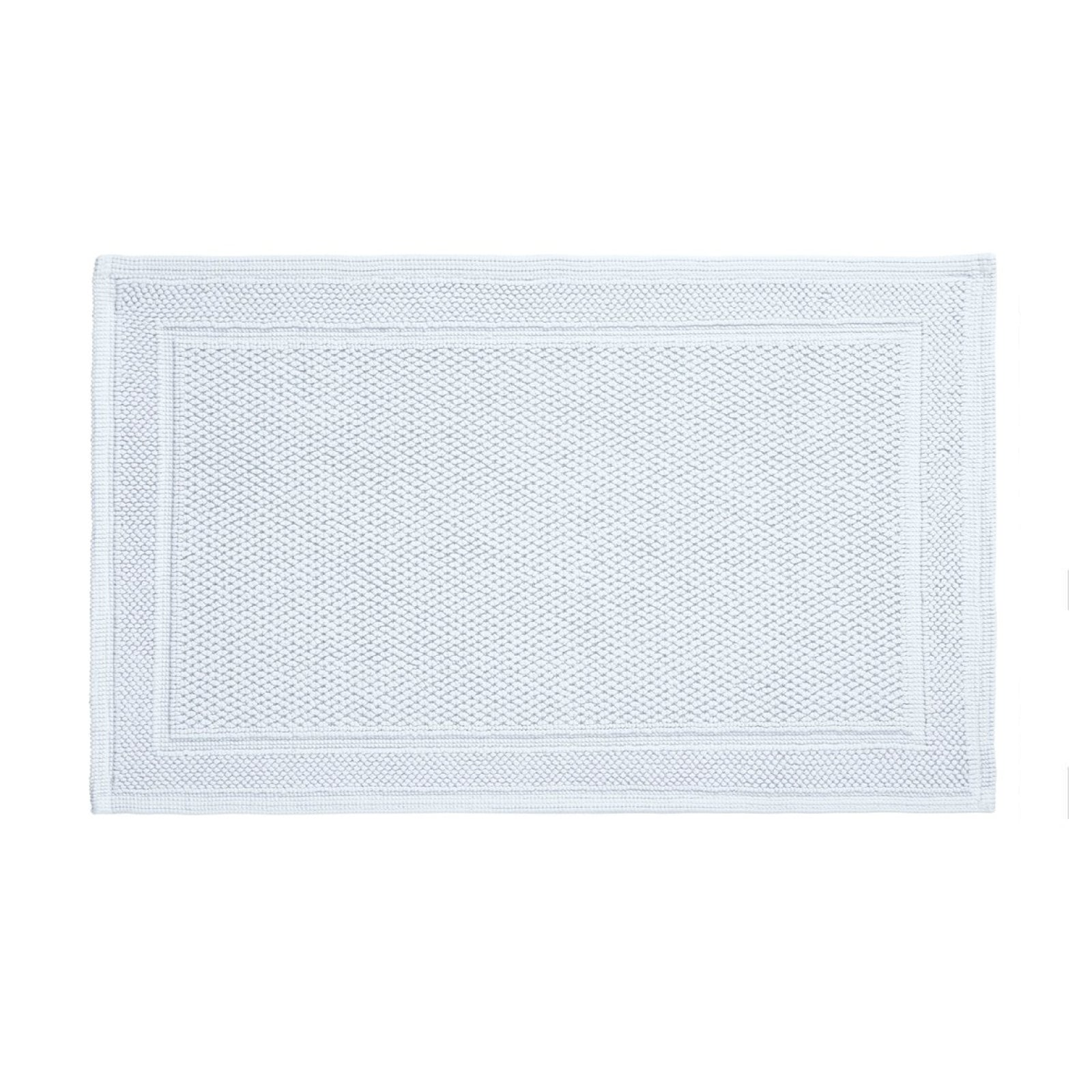 Cotton Bath Rug in Light Blue