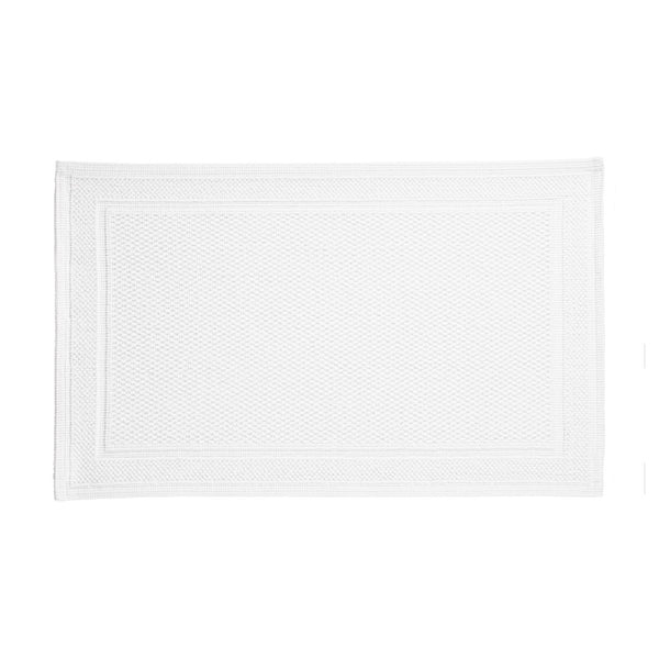 Cotton Bath Rug in White