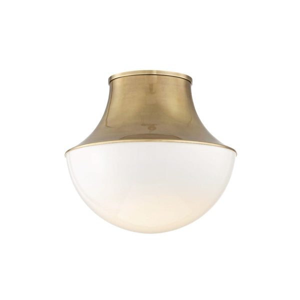 Crosby Flush Mount in Brass - Large
