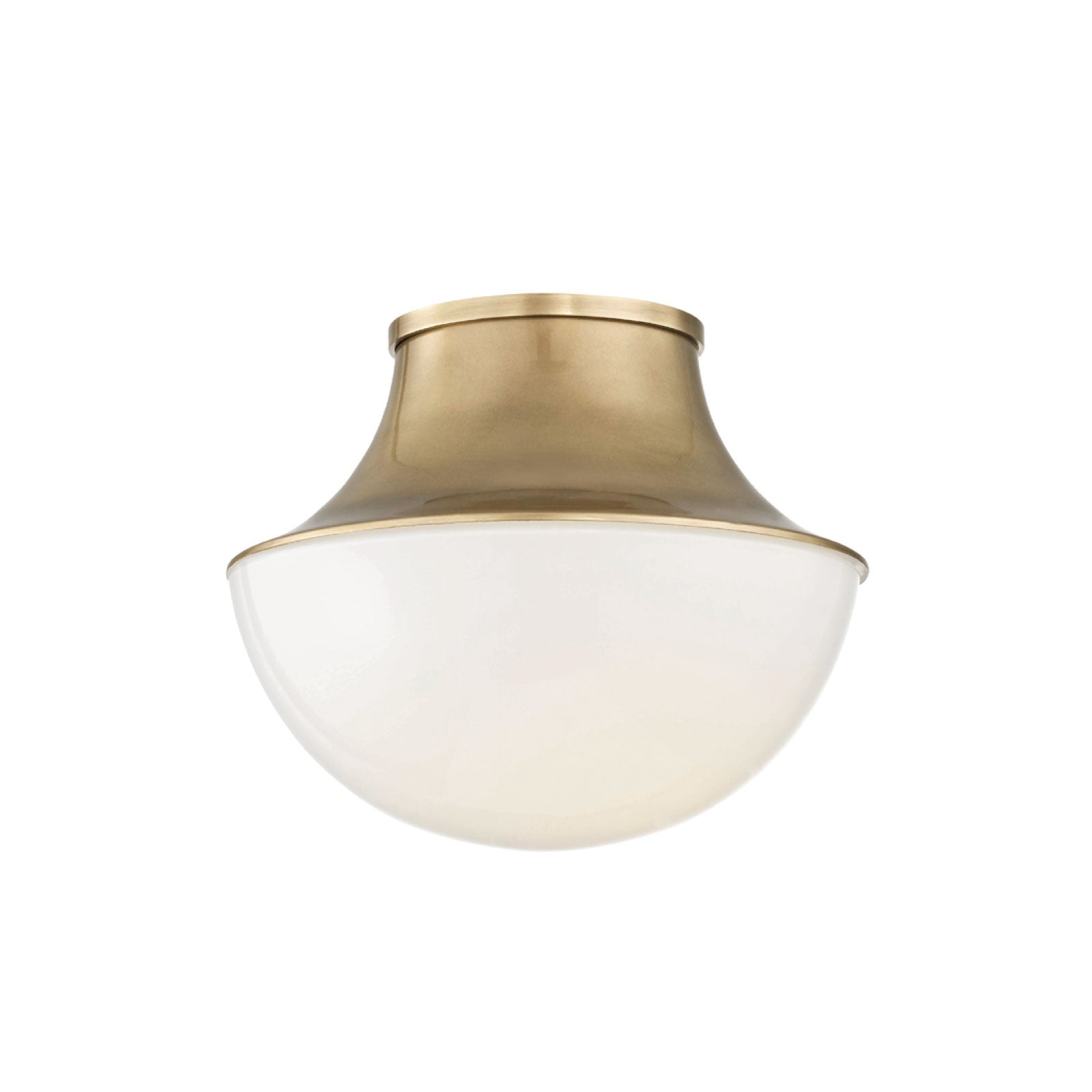 Crosby Flush Mount in Brass - Small