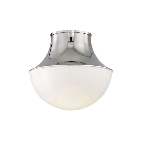 Crosby Flush Mount in Nickel - Small