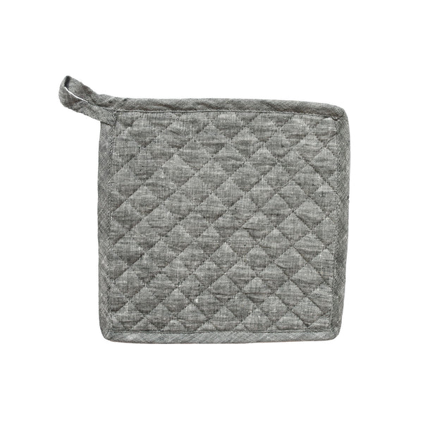 Daisy Pot Holder in Grey Linen