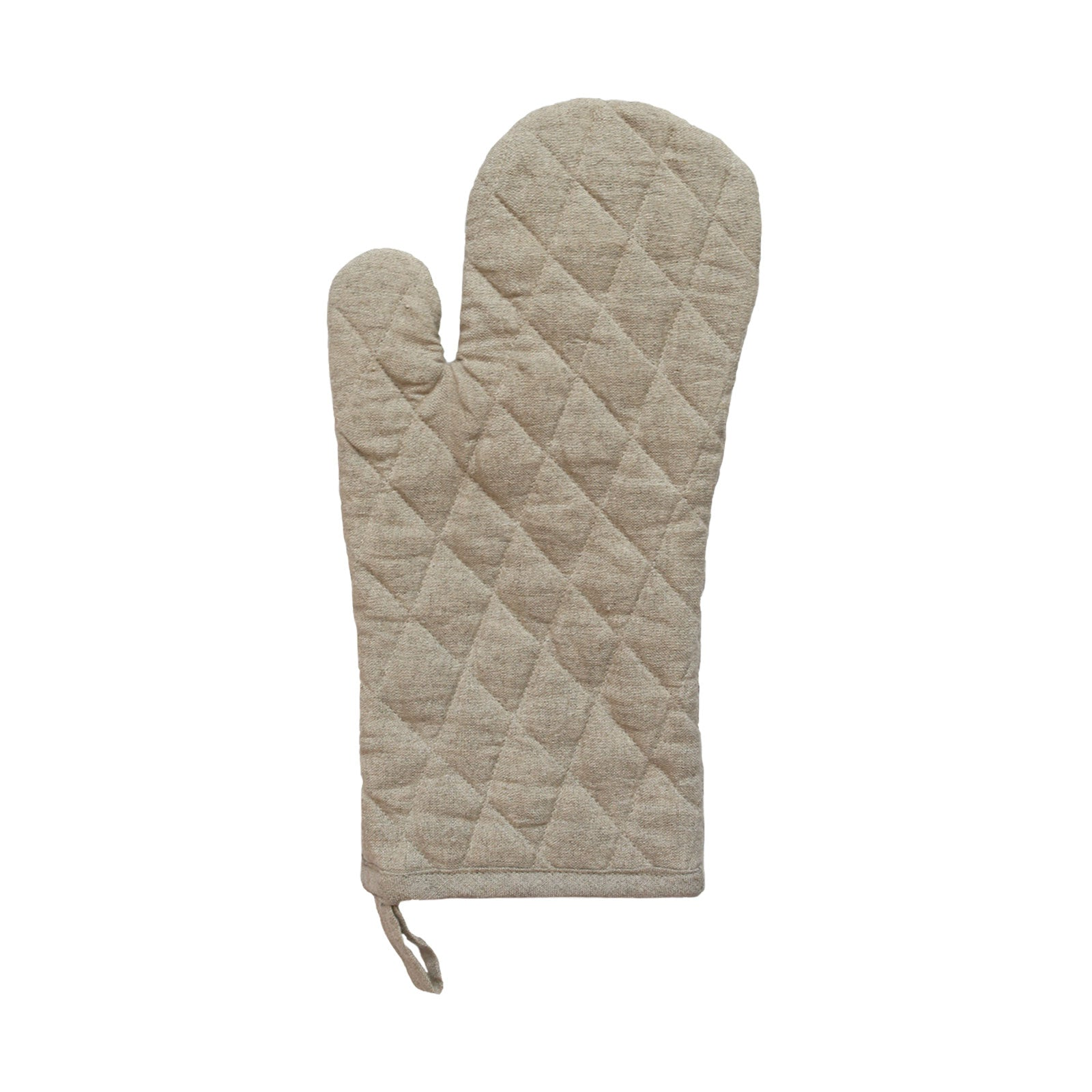 Daisy Oven Mitt in Natural Linen