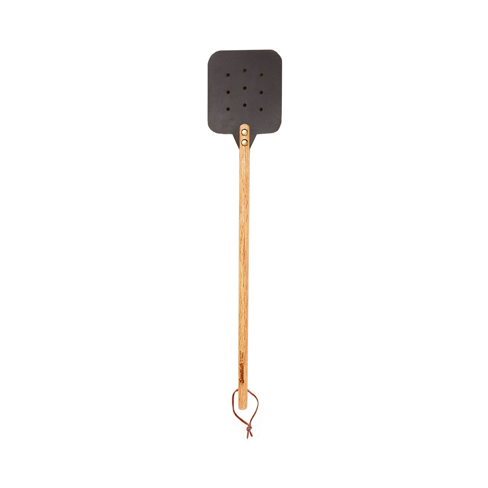 Dark Brown Leather Fly Swatter