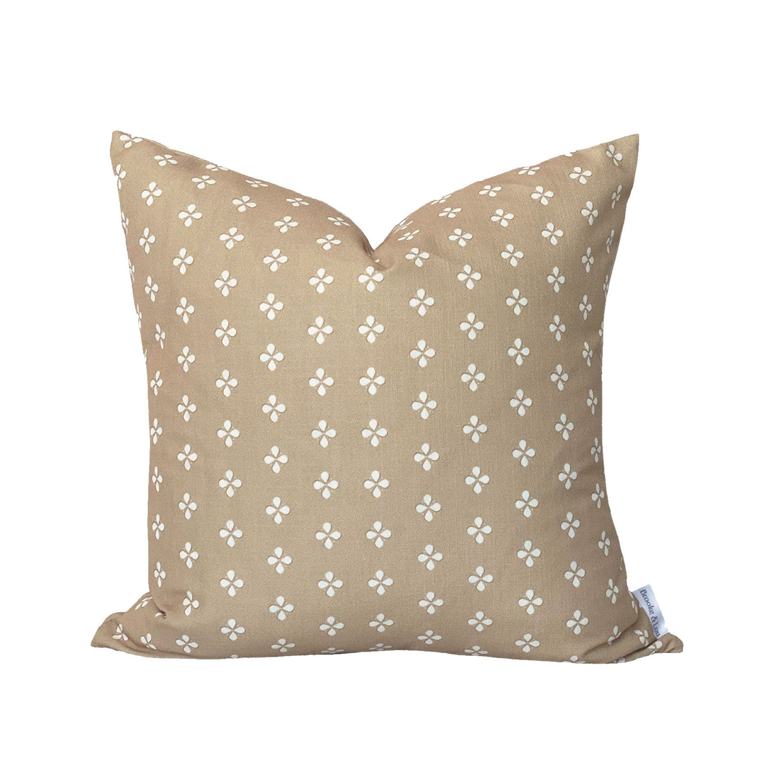 Ditzy Print Pillow in Camel