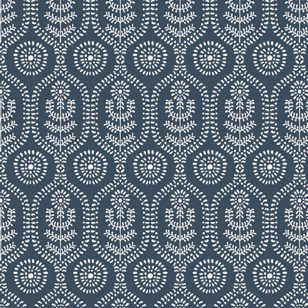 Ella Fabric in Midnight Blue